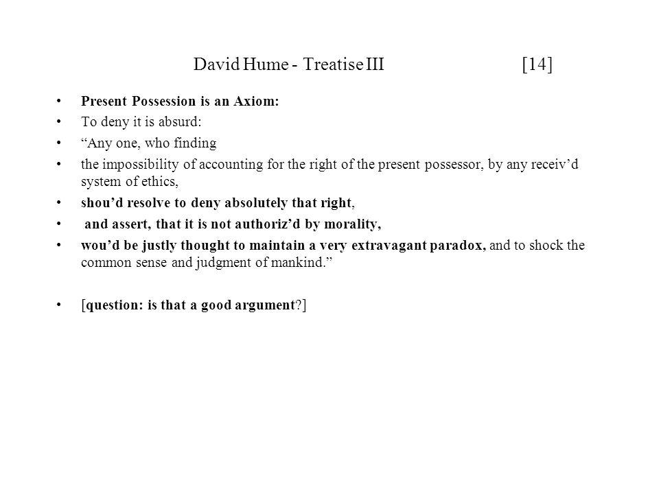 David Hume - Treatise III [14]